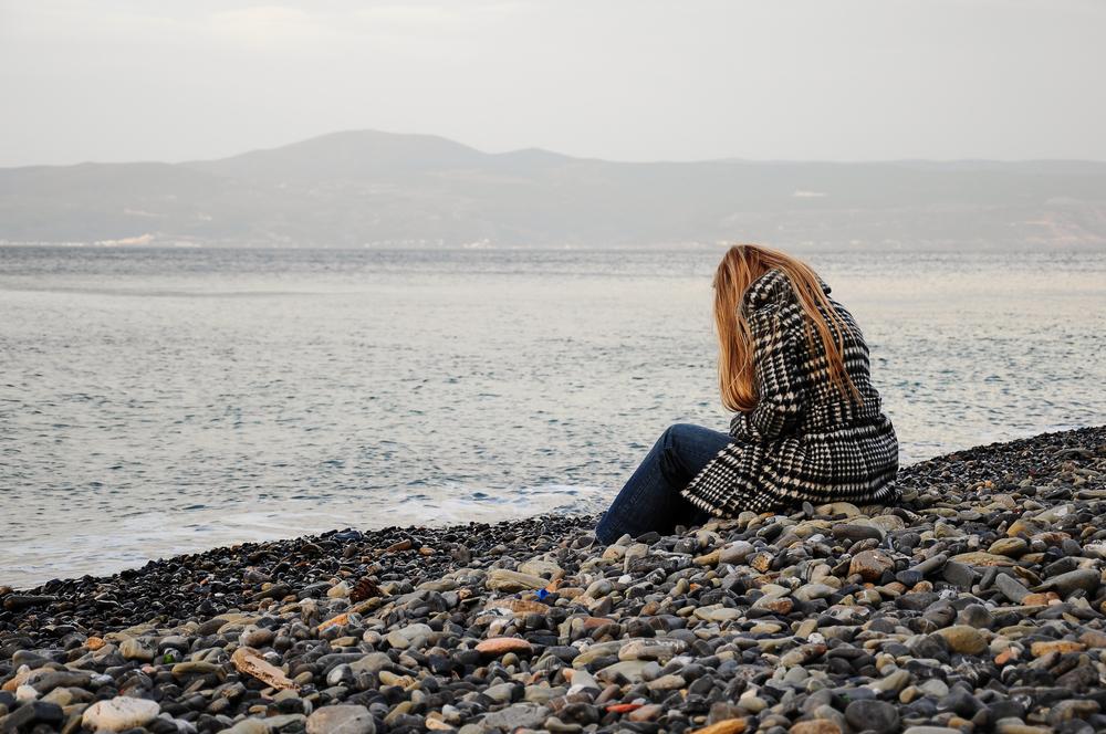 kvinde-strand